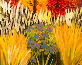 Freedom: Painting original Acrylic on Canvas Fine Art Landscape Fall Colors24x36