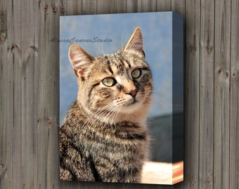 Pet Friend Personalized Canvas, Your Pet on Canvas with Quotes, Custom Pet Portrait, Best Friend Gift Idea, Dog, Cat Photo to Canvas, Gift