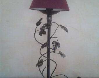 Wrought iron lamp patina silver
