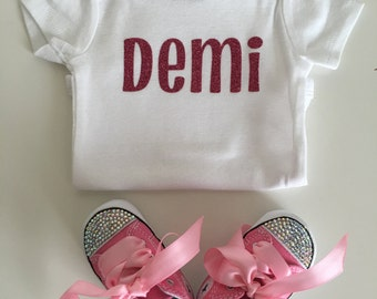 Gift Package** Name Onesie AND Custom Converse COMBO!