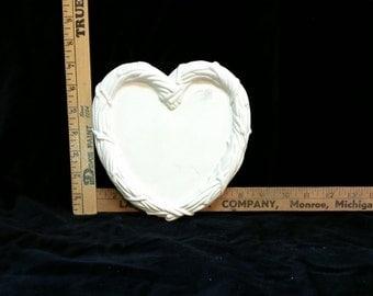 Valentine heart shaped dish