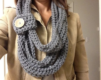 Crochet Triple Layer Infinity Scarf