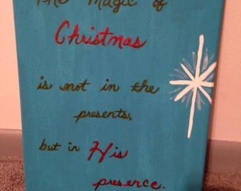 The magic of Christmas is ... in His presence