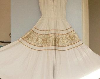 Vintage 1950s/60s cotton dress
