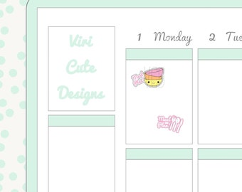 Kawaii Meal Planning Stickers |035