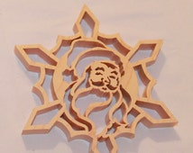 Scroll Saw Pattern: Snowflake Santa