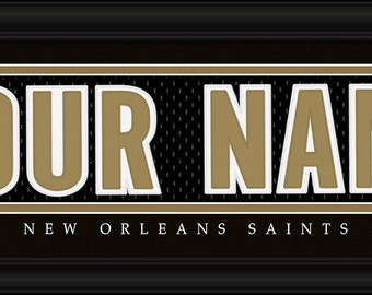 New Orleans Saints NFL Framed Personalized Jersey Nameplate Sports  Home  Decor 22x6 Inches Free Shipping