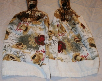 Pair of kitchen hand towels