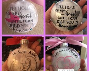 Remembrance ornament, Glass Ornament, Personlized ornament