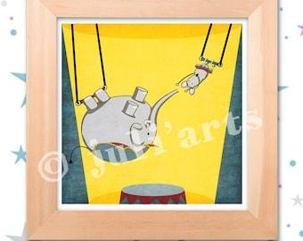 Illustration blue grey Trapeze