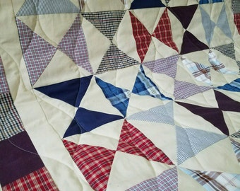 Memory Blanket / Remembrance Quilt / Tee shirt blanket / T-shirt blanket/ Clothing Quilt / Tie Quilt