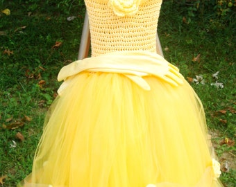 Belle inspired tutu ball gown