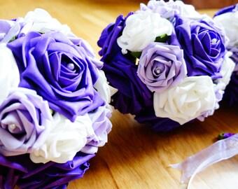 Artificial Flowers Wedding Bouquet, brides bouquet, bridesmaid, wedding flowers, bridal flowers, wedding bouquet, fake flowers, wedding day