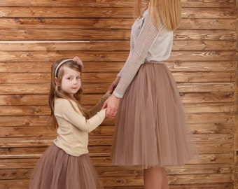 AIRSKIRT Latte colour Familly Look