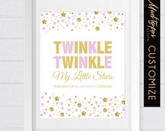 Teacher Gift - Twinkle Twinkle