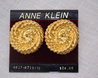 Anne Klein Gold Swirl Earrings