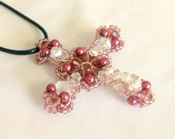 Beaded Crystals Cross Jewelry Making Kit and Tutorial TB3