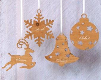 Personalised Engraved Christmas Decoration