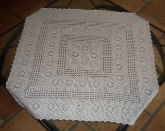 crochet square tablecloth
