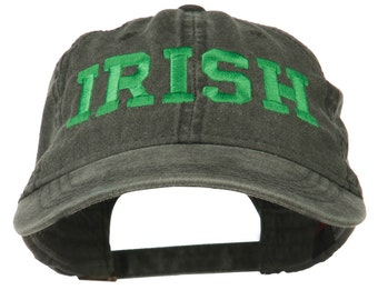 Irish Embroidered Washed Pigment Dyed Cap