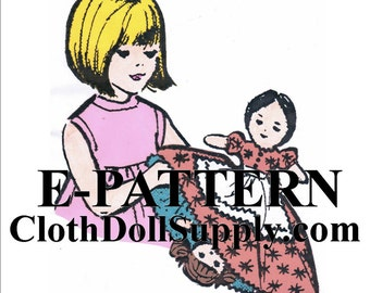 E-Pattern – Mother-Daughter Upside Down Doll Sewing Pattern #EP 2281