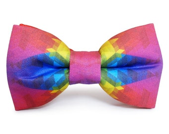 Techno Colors Bow Tie Men Women Bowtie FREE WORLDWIDE SHIPPING