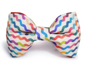 Colorful Waves Bow Tie Men Women Bowtie FREE SHIPPING WORLDWIDE
