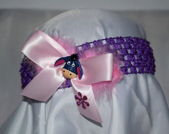Crochet headband with Eeyore
