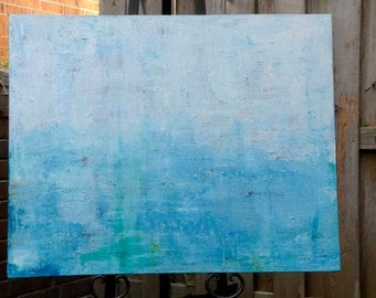 """Original Abstract Painting """"Calm Waters"""" 24 x 30 inch Stretched Canvas Hand Painted Acrylic Home Decor makes a great Gift for Him or Her"""