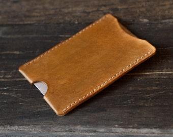 Porte carte en cuir, portefeuille en cuir fait main, cadeau de fête des pères