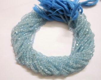 Sky Blue Topaz Faceted Rondelle , Sky Blue Topaz Rondelle Beads
