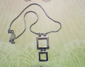 Vintage Modernist Geometric Necklace 1980s