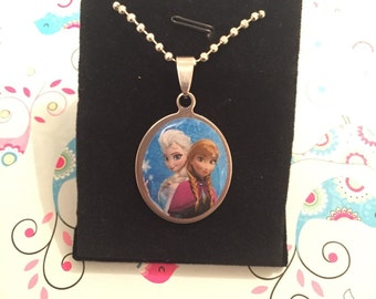 frozen pendant on ball chain