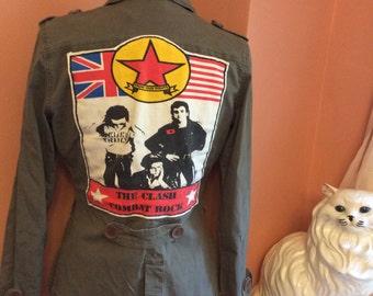 The Clash, RARE T-Shirt Patch, Military Combat Rock Clash Punk Jacket (A517)