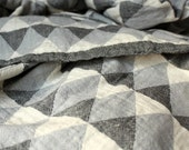 Grey Triangle Throw Blanket | Boho Picnic Blanket | Organic Cotton Couch Throw | Sofa Coverlet | Gift for couple | College Student Gift