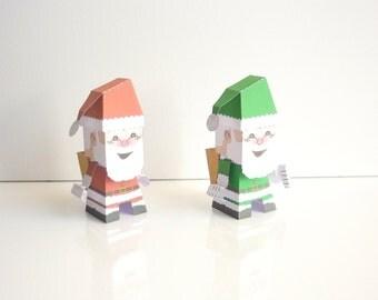 Santa Claus papertoy to print