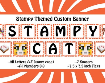 Stampy Themed Customizable Banner