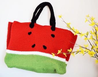 Watermelon melon-beach bag-water melon bag \ beach bag