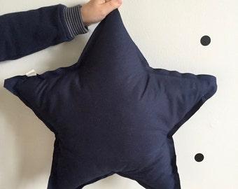Coussin en forme d'étoile Bleu marine