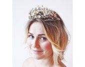 Antique Myrtle Bridal Tiara and Corsage,Wedding Crown 1880, German Wedding Headdress, Boho Bridal Tiara