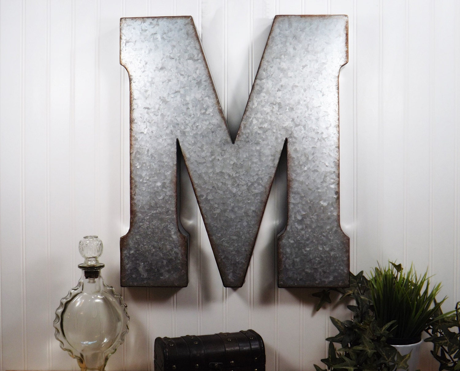 Large metal letter 20 inch metal letter wall decor for Big wall decor