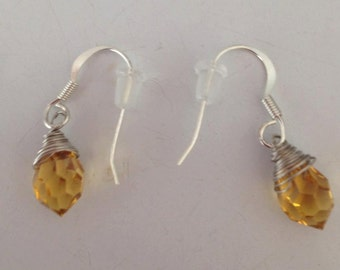Yellow Dangly Earrings