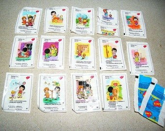 Set of 14 Love is  gum pictures  Inserts from gum   series wrappers