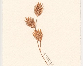 original watercolor - northern sea oats