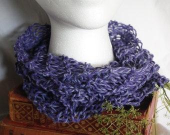 Cowl Scarf, Knit, Lilac, Purple, University of Washington colors, ALD/TDI Donation