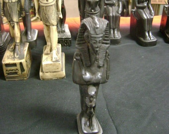 Unique Egyptian Statue King Tut Hand Made and  Carved Made in Egypt
