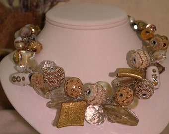 Chunky Statement Necklace - Midas Statement Necklace Silver Wire