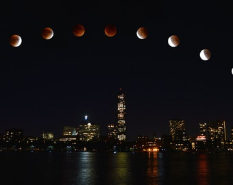 Blood Moon over Boston