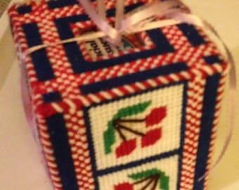 cherry tissue box holder