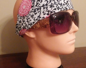Jersey Black and Pink headband